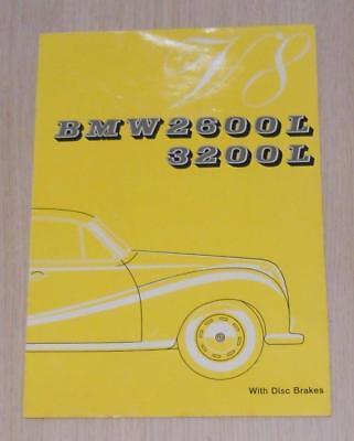 BMW 2600L & 3200L V8 Car Sales Brochure July 1962 #W213e