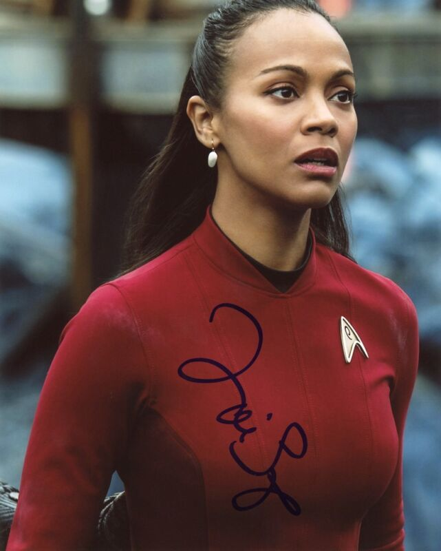 "Zoe Saldana ""Star Trek"" AUTOGRAPH Signed 8x10 Photo ACOA"