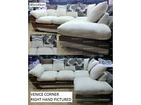 NEW TO MARKET VENICE CORNER SOFA plus many other sofas from only £200 + now bed beds go thru images