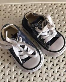 Baby boys blue converse size 3