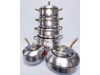 6PC STAINLESS STEEL COOKING SET