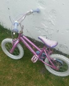 child's princess bike pink