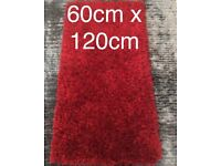 SMALL Red Montana Shaggy Rug. NEW