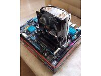 AMD FX8350 + Asus M5A97 evo r2.0 motherboard + 8GB corsair vengeance RAM + hyper evo 212 cpu cooler