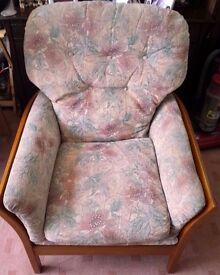 Fireside Comfy Chair , Floral Dralon