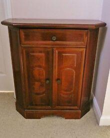 Walnut Veneer Telephone / Phone Stand / Cabinet / Table / Cupboard
