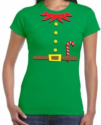 ELF FANCY DRESS WOMEN'S T-SHIRT - Funny Christmas Gift Present Xmas Outfit