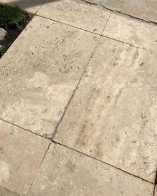 Travertine tiles - 20sqm various sizes, 40x40x30mm, 20x40x30, 20x20x30mm