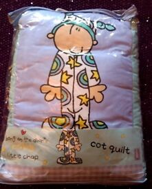 Cot quilt, bumper and sheet (most brand new)