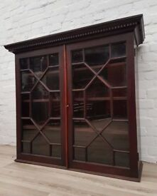 Victorian Glazed Bookcase (DELIVERY AVAILABLE FOR THIS ITEM OF FURNITURE)
