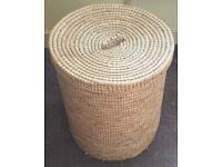 Wicker laundry basket for sale.