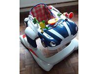 Baby Walker - Petite Star 3 in 1 Car walker Blue Bouncer, Exerciser & Walker