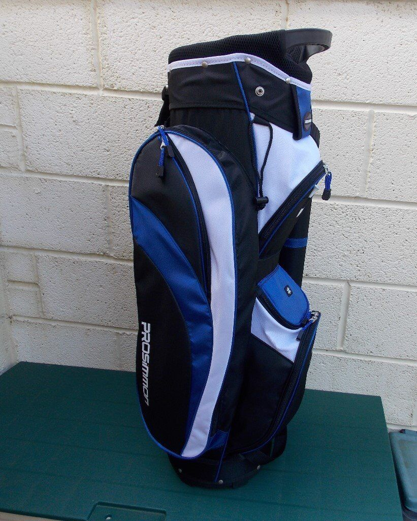 PROSIMMON TOUR 14 WAY LIGHTWEIGHT CART GOLF BAG - Black/Blue and White. - NEW and UNUSED
