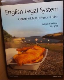 ENGLISH LEGAL SYSTEM - Catherine Elliot and Francis Quinn - 16th ed - 2015-2016
