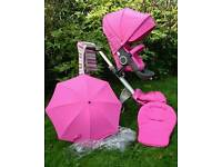Stokke Xplory V3 Pram/Pushchair in Limited Edition Pink