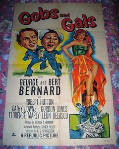 RARE 1952 GOBS & GALS NAVY SEXY WOMAN COMEDY MOVIE POSTER