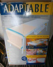 Folding table wallpapering multi use acorn adaptable