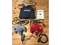 Nintendo 64 console 2 controllers & games