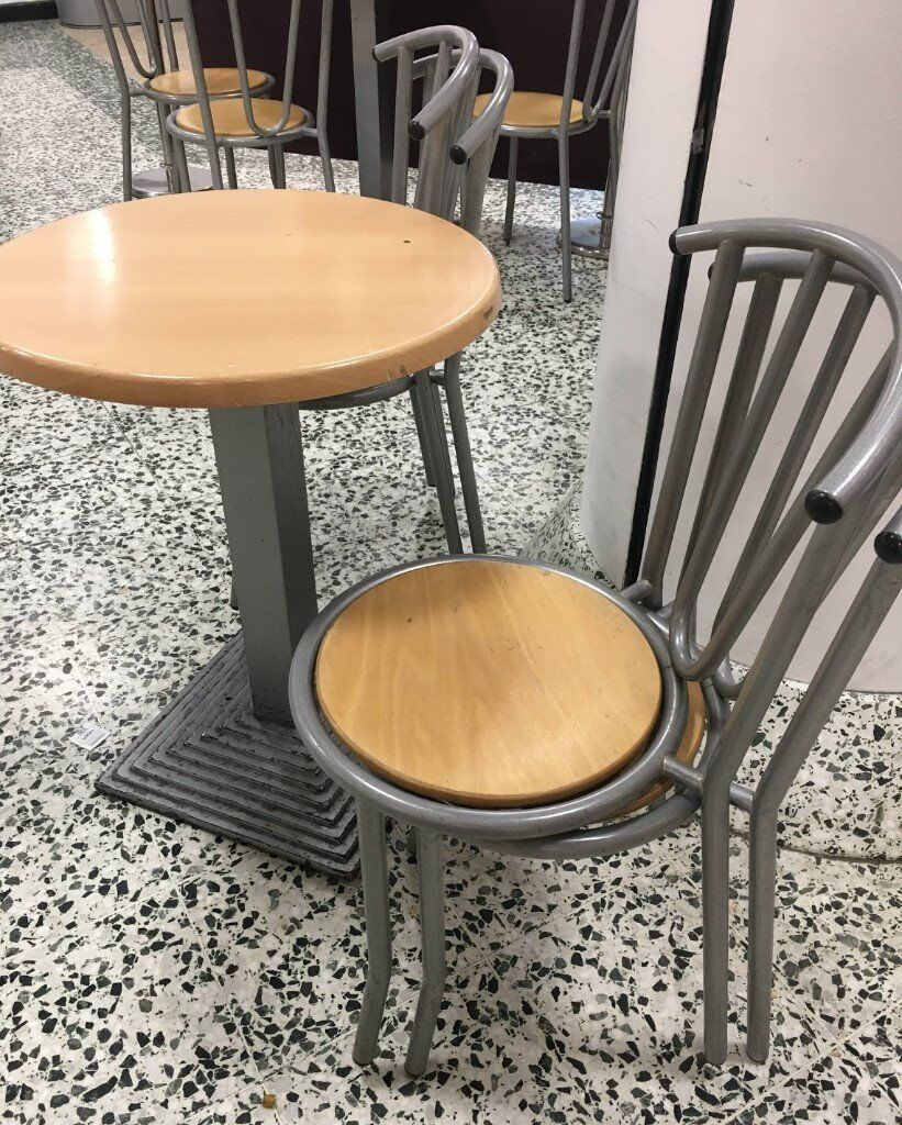 5 cafe tables and 20 chairs