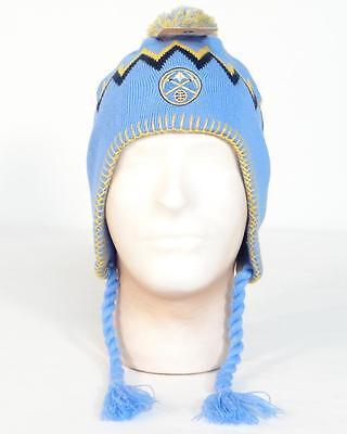 48f0f7ac NBA Denver Nuggets Blue Knit Peruvian Winter Hat Adult One Size NWT