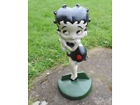 (660) Cast iron Betty boop door stop (Pick up only, Dy4 area)