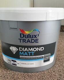 dulux trde diamond matt pure brilliant white 10 litre