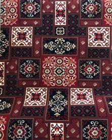 Red Pattern Carpet Offcut (New)