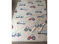 Laura Ashley blind fabric vehicle boy tractor