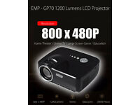 BRAND NEW GP70 1200LM Mini Portable Video Projector 1080P Home Cinema Theater 3D Game TV
