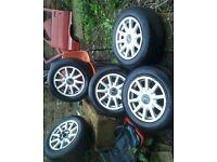 5 Audi 80 Alloy Wheels 205/60/R15 £50