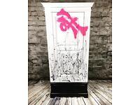Graffiti White Wardrobe Teen Child