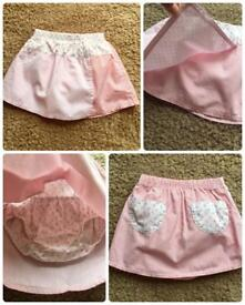 Mothercare baby girl skirt with matching pants 6-9 months