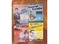 SONG BOOK ASSORTMENT Glen Miller/Bud Flanagan/George Formby/Dickie Valentie
