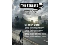 2 x The Streets Tickets (Glasgow)