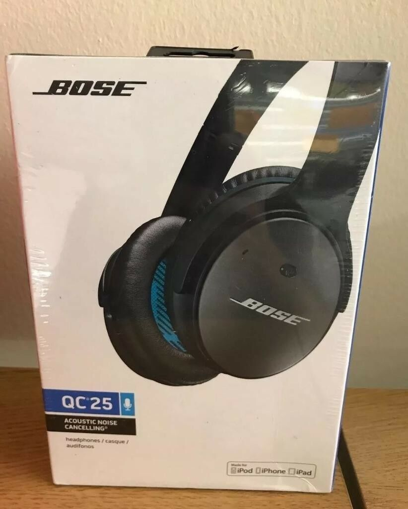 123ce727c49 BOSE QC25 Quite comfort 25 noise cancelling headphones sealed ...