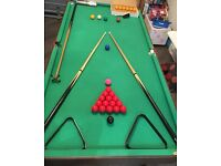 foldaway pool and snooker table