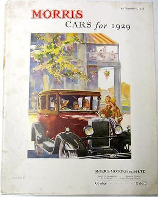 MORRIS Cars for 1929 Car Sales Brochures 1928 Catalogue A, #6316-3/29/50m/4