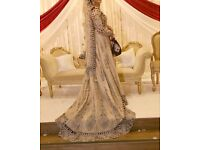 Bridal Asian Wedding Train Gown collection only.