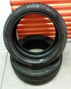 (H261) 2 Pneus dHiver - 2 Winter Tires 255-40-19 Pirelli 7/32