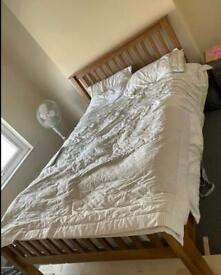 Oak bed Frame and mattress