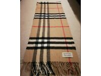Brand new 100% cashmere Burberry scarf (Unwanted Valentines gift)