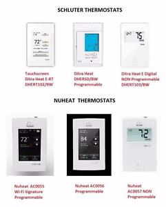SCHLUTER Ditra Heat E-RT Programmable Thermostats , Nuheat Element AC0057 / Home AC0056 / Signature AC0055 120 / 240V