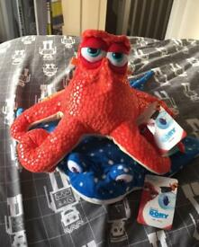 Finding Dory Mr Ray and Hank soft toys
