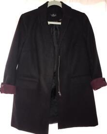 Women's Topshop black coat