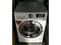 LG Condenser Tumble Dryer RC9055BP2Z 9kg A++ Heat Pump - White RRP £749.99