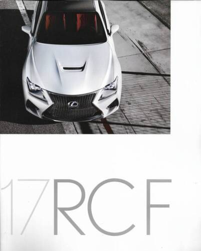 2017 17  Lexus RCF original sales brochure