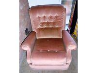 Recliner Armchair in Terracotta