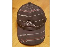 Quiksilver Baseball Cap Grey White Red Black with Adjustable Back