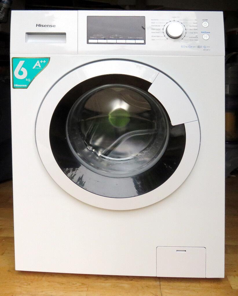 5 months old Hisense U Series WFU6012 6Kg Washing Machine with 1200 rpm -  White.