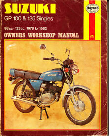 HAYNES SUZUKI GP 100 & 125 SINGLES WORKSHOP MANUAL 1978 - 1982